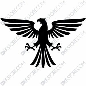 Ornamental Heraldic Eagle Free DXF File-3