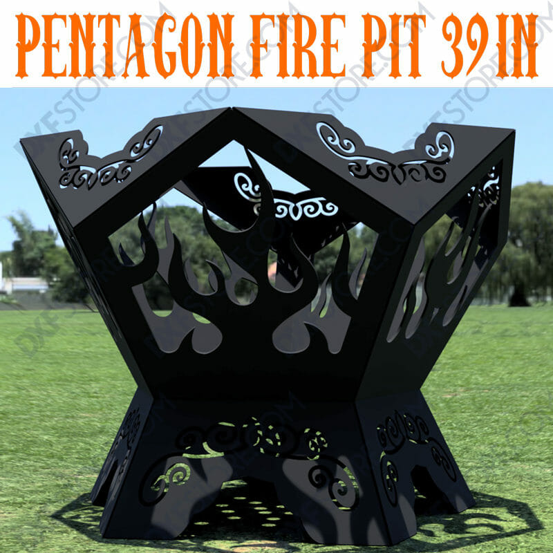 Pentagon Fire Pit 39 inches
