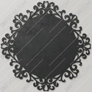Retro Decorative Frame Vintage Filigree Swirls Plasma Art for CNC Plasma Cut Cut-Ready DXF File for CNC Waterjet
