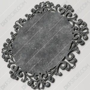 Retro Decorative Frame Vintage Filigree Swirls Plasma Cut DXF File Cut-Ready for CNC Plasma and Laser Cut