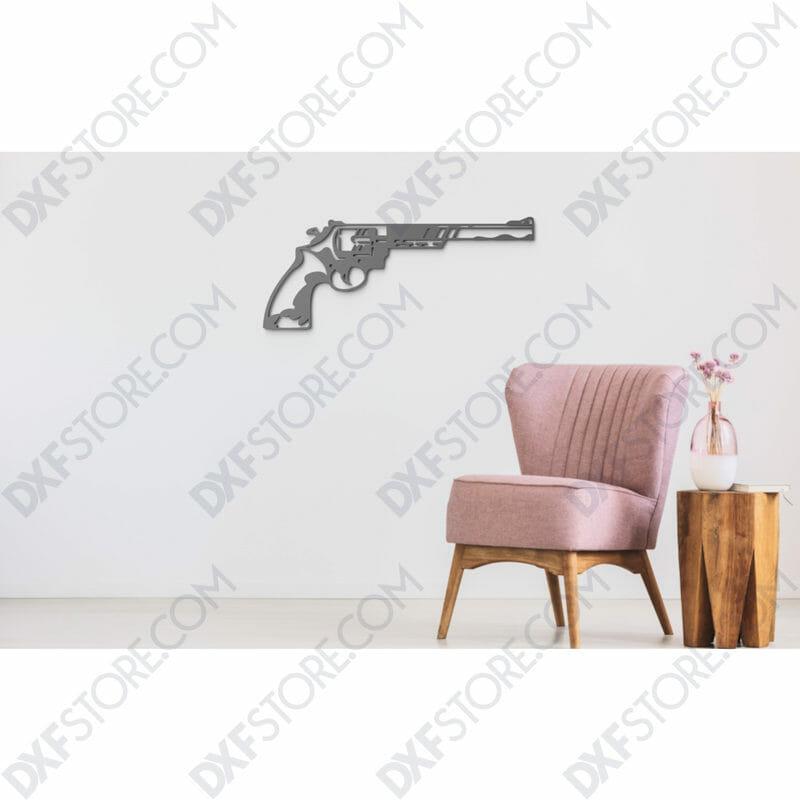 Revolver Free DXF File scene