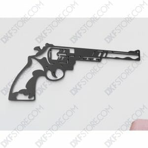 Revolver Free DXF File sign