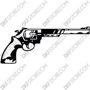 Revolver Free DXF SVG File