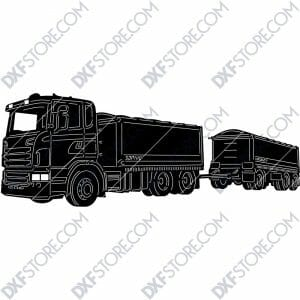 Scania R620 Truck With Personalized Wording Custom Order Plasma Cut and Lasert Cut DXF Download