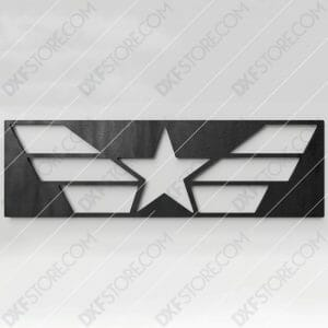 Star and Stripes Free DXF File CNC Plasma Cut CNC File