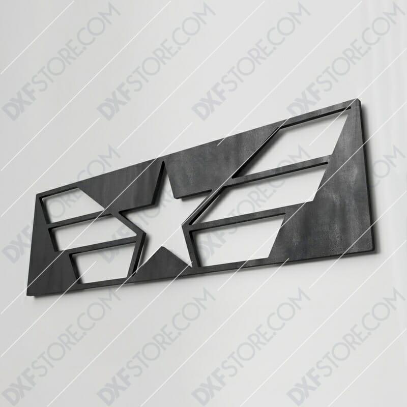 Star and Stripes Free DXF File Plasma Cut DXF File Cut-Ready