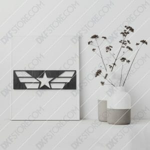 Star and Stripes Free DXF File Plasma and Laser Cut DXF File for CNC