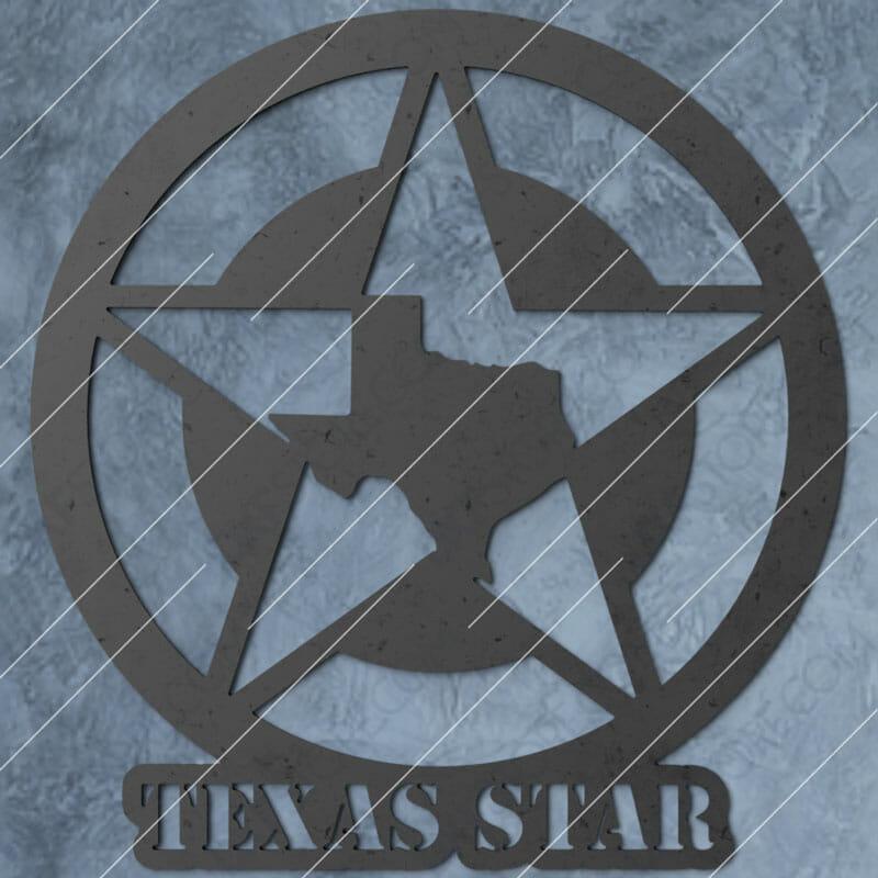 Texas Star Plasma Art Cut-Ready Plasma Cut DXF File for CNC Plasma and Laser Cut