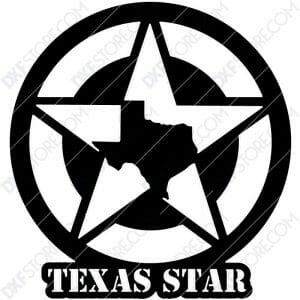 Texas Star Plasma Art Plasma Art for CNC Plasma Cut Cut-Ready DXF File for CNC