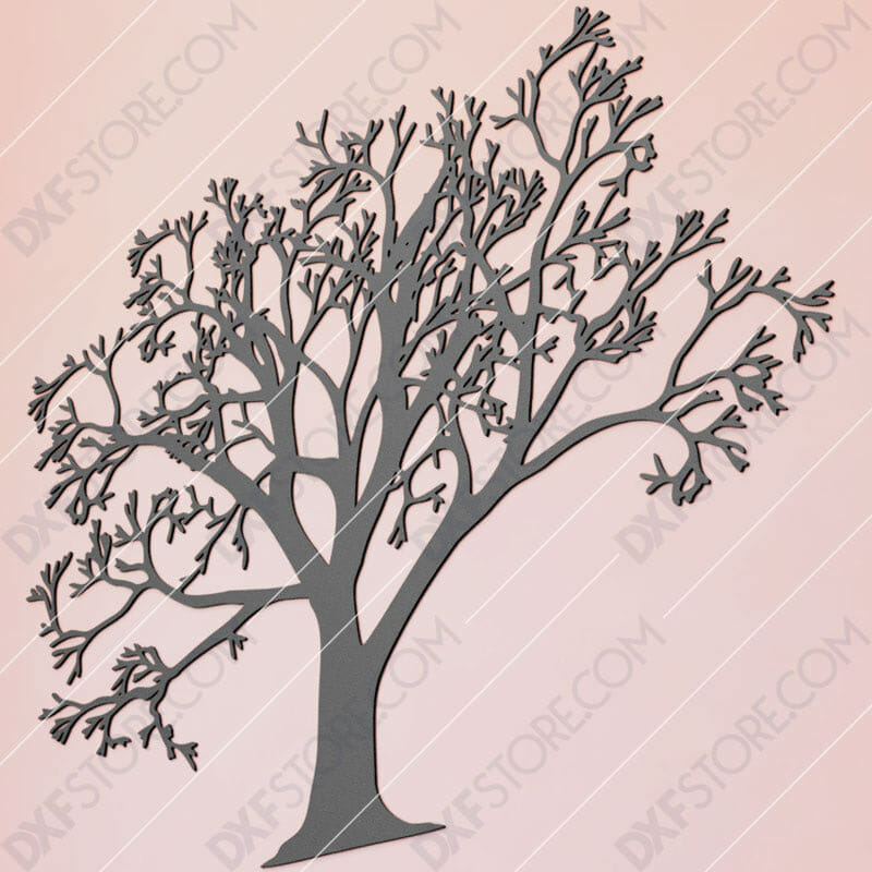 Tree Of Life - Tree Wall Art Cut-Ready Plasma Cut DXF File for CNC Plasma and Laser Cut