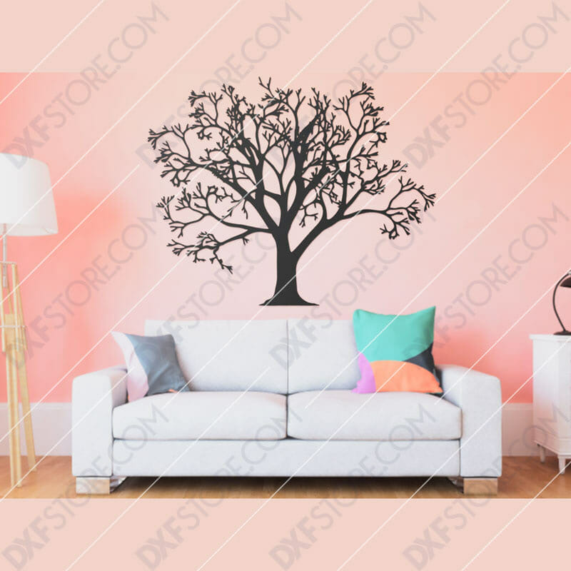 Tree Of Life - Tree Wall Art Downloadable for CNC Plasma DXF Files Download