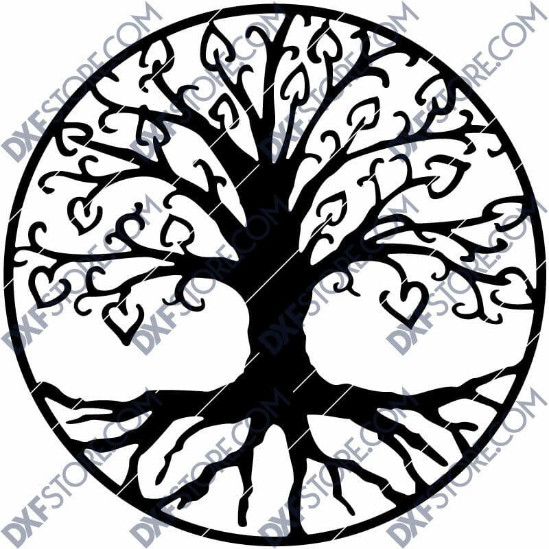 Tree of Life - árbol de la vida DXF file for CNC