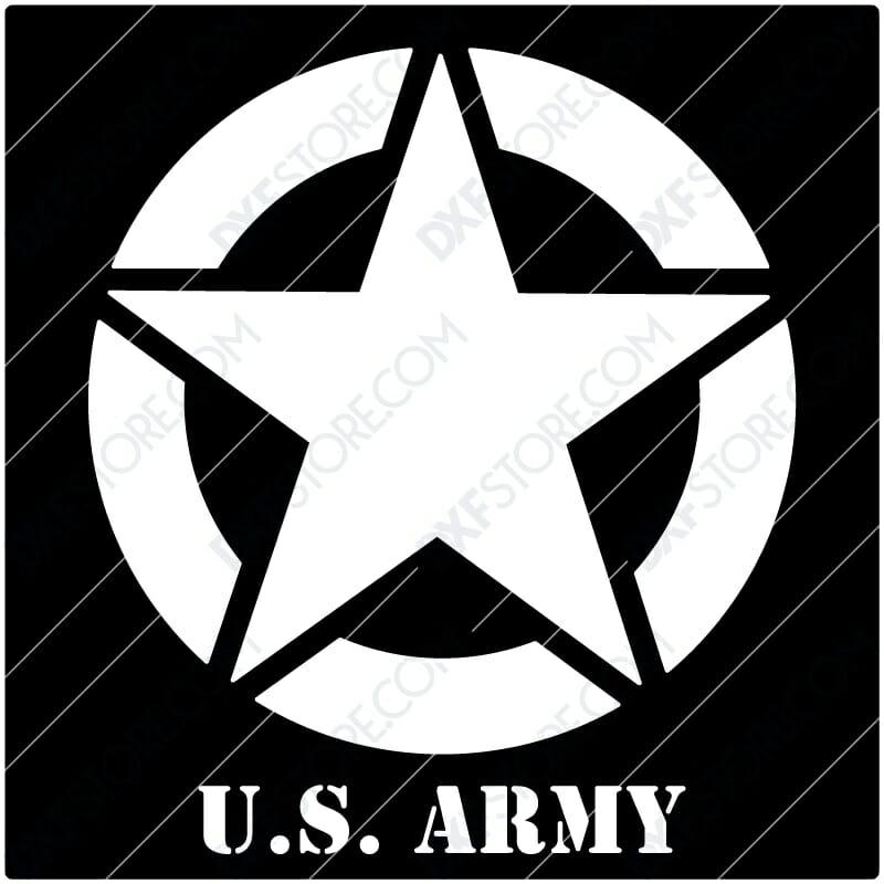 U.S. ARMY STAR Sign Plasma Art for CNC Plasma Cut Cut-Ready DXF File for CNC