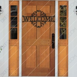 Welcome Sign Decorative Filigree Free DXF File Plasma and Laser Cut DXF File for CNC Laser and Plasma