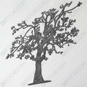 Tree Of Life Plasma Art DXF File Plasma and Laser Cut for CNC Laser and Plasma Cutter